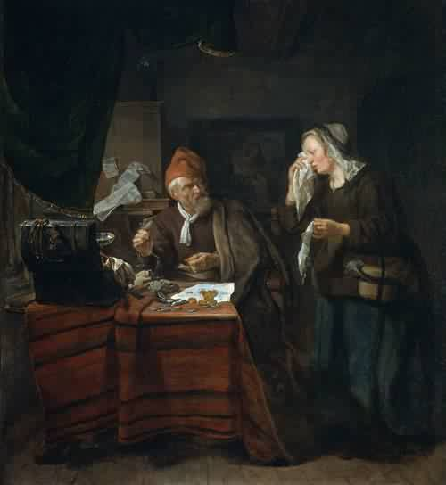 Gabriel-Metsu-xx-Usurer-with-a-Tearful-Woman-1654